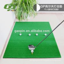 Alta qualidade PP grama + EVA borracha De Golfe preto bater mat pode ser personalizado