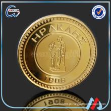 Mais recente tecnologia metal logotipo metal moeda design
