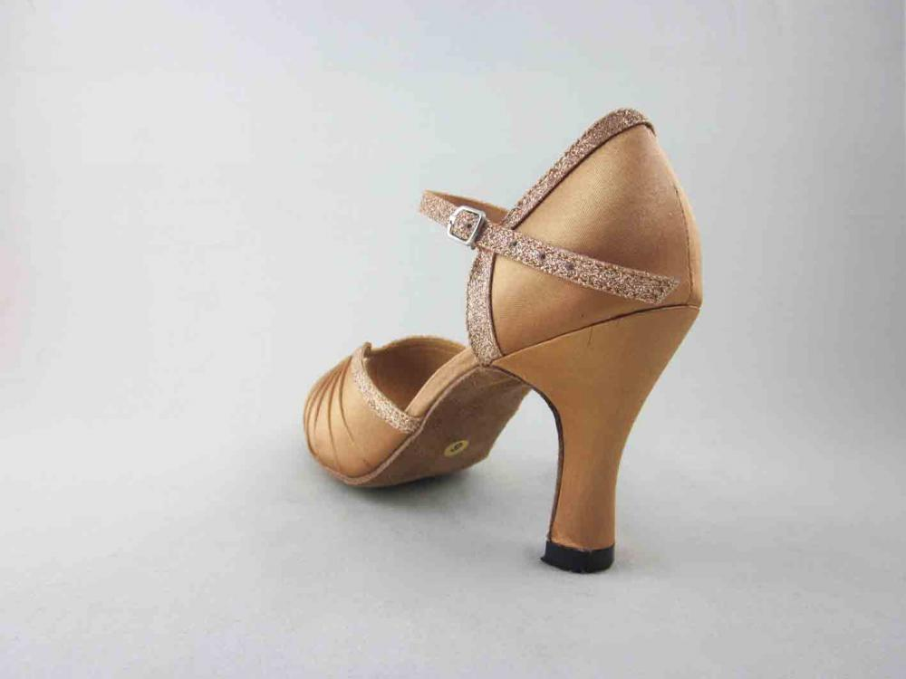 Womens Flesh Satin Salsa Shoes