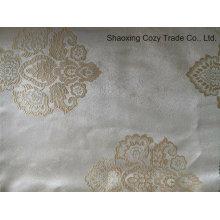 100% poliéster tecido de cortina jacquard de luxo