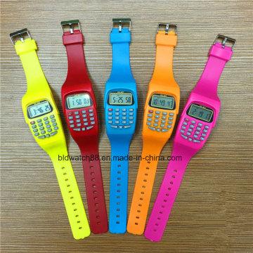 Kids Digital Watch Fancy Calculator Montres-bracelets pour cadeau pour enfants
