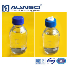 clear glass blue cap reagent bottle of GL45