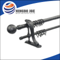SHINY SILVER BULLET FINIAL SIMPLE CURTAIN POLE SET