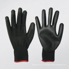 Gant chimique de polyuréthane d'unité centrale de revêtement de polyester de 13G (5537. BL)
