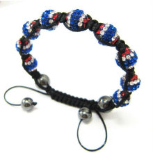 Fashion Handmade UK Flag Shamballa Bracelets London Olympic Charm Bracelet BR06