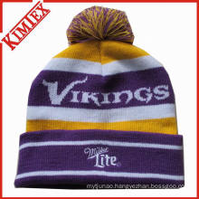 Customized Embroidery Jacquard Knitted Hat Knitted Cap