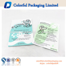 Plastic foil cosmetic facial resealable custom plastic toner bags