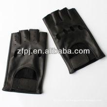 Piel de oveja fresca guantes de cuero fingerless fresco guante