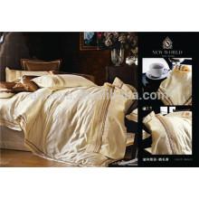 Красивый свадебный комплект постельного белья с вышивкой жаккардового стиля