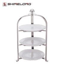 C452 Stainless Steel 3 Layers Foldable Pastry Display