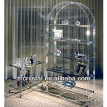 K9 Table et placard de cristal mobile