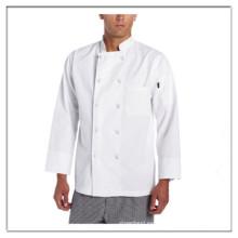 OEM blanco hombre clásico chef capa