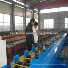 JCX-80-300mm/60-200mm-O1, Mitsubishi PLC Hydraulic Cutting Downspout pipe forming machine