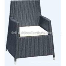 Plein air haute chaise de rotin de PE retour moderne