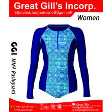 Modern rash guard for women / custom made rash guard / compression wear
