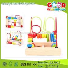 Juguetes baratos de madera cuentas baratas abacus cuentas de colores