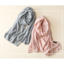 women's 100%cashmere scarf color all-match warm temperament dual-purpose shawl