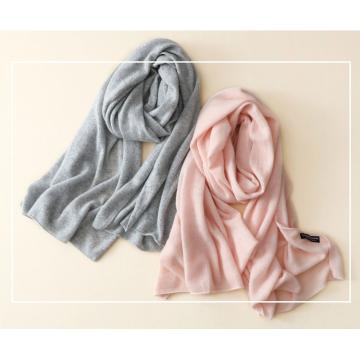 Écharpe 100% cachemire couleur pour femme All-match tempérament chaud double châle