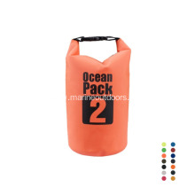 Outdoor Sports Custom Logo Foldable Roll Top 2L Waterproof PVC Dry Bag