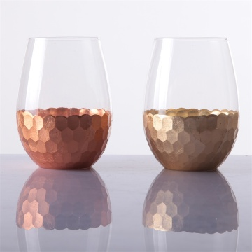 Stemless Wine Tumbler Glass Set, 16oz