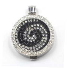Серебряная обойма с плавающей пластиной для ожерелья