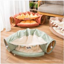 Высококачественная забавная палатка с кроватью для кошек с туннелем