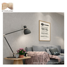 durable fireproof 3d grey exterior woven wallpaper with fair price
