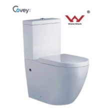 Hand Press Toilet with Watermark Standard/One Piece Toilet with Ce Certification (CVT2062)