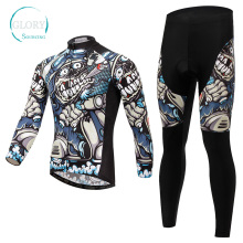 100% Polyester Long Sleeve Cycling Jersey
