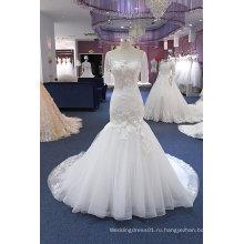 Русалка С Коротким Рукавом Свадебное Платье