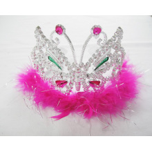 Butterfly PP Feather Crown Tiara