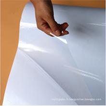 Film de vinyle numérique auto-adhésif clair de PVC