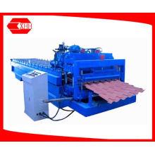 Профилегибочная машина для производства листовой металлической плитки из цветной стали