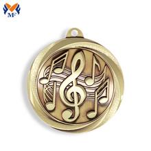 Medalha de ouro da música metal atraente