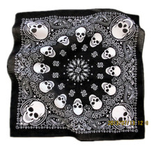 Custom Made Customized Design Crânio Impresso Promocional Algodão Biker Sports Bandana Headband