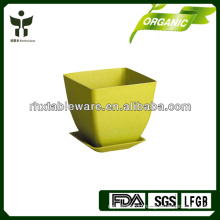 bamboo fiber mini indoor flowerpot