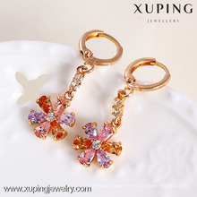 xuping bijoux meilleur vente rose or couleur fleur