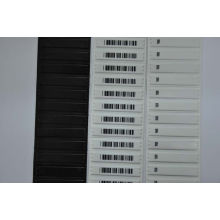 White Barcode Store Shop Am Soft Anti Theft Label 58khz Maximum 1.9mm Thickness
