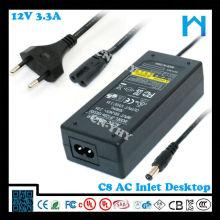 12v 3.33a adaptador de corriente alterna 40w UL CE FCC GS SAA C-tick