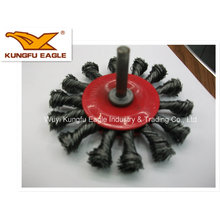 Twist Knot Wheel Brushes with Shank