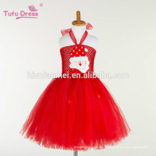 Vestido de las muchachas del tutú del vestido de princesa de hadas de tul rojo Cosplay del partido de halloween del traje de los cabritos encantadores vestidos de hadas