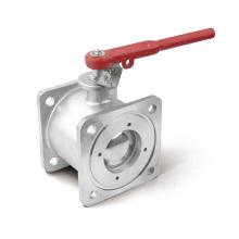 Válvula de bola de brida cuadrada de acero inoxidable para petrolero (OEM)