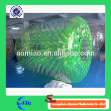 Green high quality inflatable water roller with reasonable price for sale