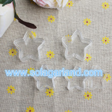 Star Shape Clear Plastic Jewelry Box 1.7*3.15CM Mini Plastic Box Container