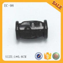 EC98 Runde Metall Seil Stopper Mode Schnur Verschluss Perle