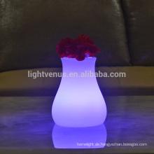 Innenbereich modern geformte Vase Schreibtisch Lampen Dekoration Batterie portable Leuchte Tischleuchte