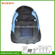 Solar backpack with solar panels for mobile charger