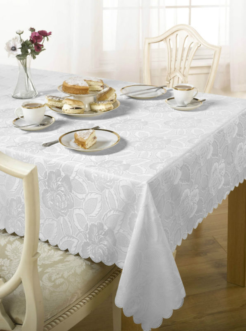 Pu Coating Jacquard Table Cloths