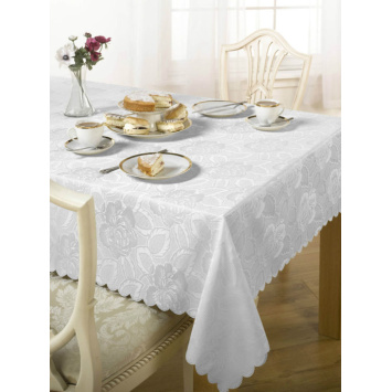 PU Coated Jacquard Tablecloth
