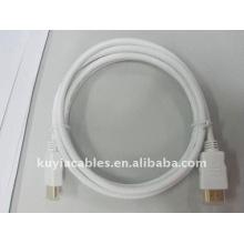 Weißes HDMI Kabel Kupfer, Premium HDMI Kabel Ethernet für HDTV, Weiß, 1.5m Kabel